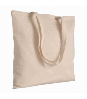 Shopper Borse WELLINGTON Natural in cotone 135 gr Manici lunghi - 42x42 cm
