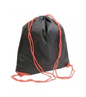 Zaino sacca nero in poliestere 135 gr - cm 37x40 con cordini colorati