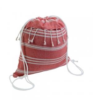 Zaino sacca Lubiana in cotone 180 gr - cm 38x42 con chiusura a strappo