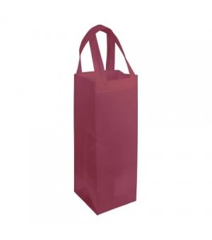 Borsa porta bottiglie in TNT con manici corti 10x36x10 cm
