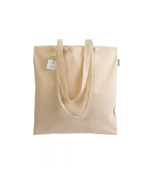 Shopper Borse TRIPOLI in cotone organico 140 gr Manici lunghi - 38x42 cm