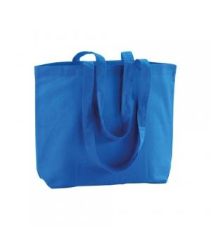Shopper Borse KINGSTON in cotone 120 gr. con soffietto alla base - Manici lunghi - 40x30x10 cm.