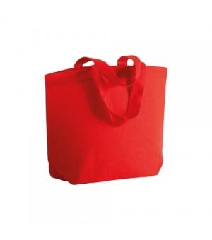 Shopper Borse MANILA in cotone 120 gr con soffietto alla base - Manici corti - 32x24x10 cm