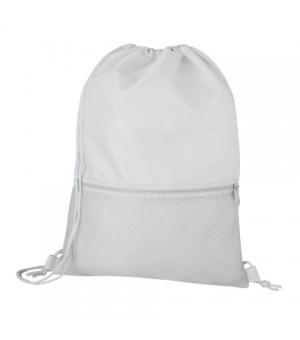 Zaino in nylon con tasca anteriore in materiale traforato cm 33x44