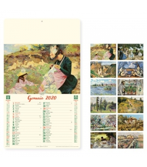 Calendari avoriati Artistico cm. 31x52,5