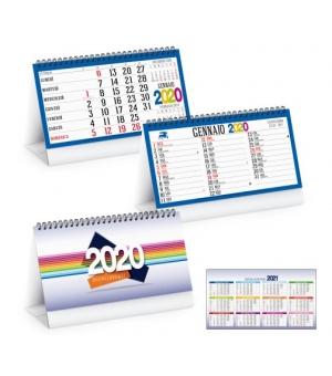 Calendari da tavolo 1 colore per ogni mese cm.19x14,5