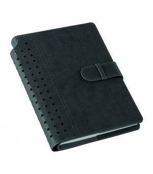 Agende portafoglio settimanali cm 20,3x25,5 chiusura con fibbia e dorso effetto traforato