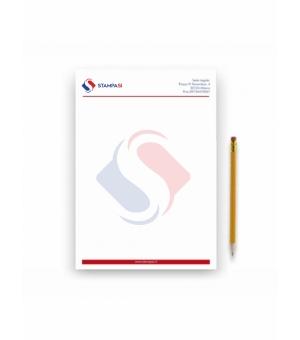 Fogli di carta intestata Formato A5 - 4 colori