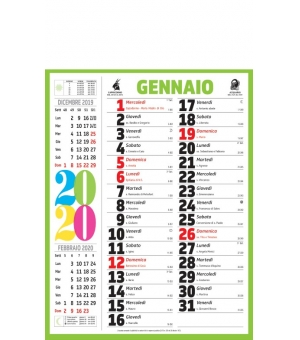 Calendari olandesi Multicolor cm 28,8x47
