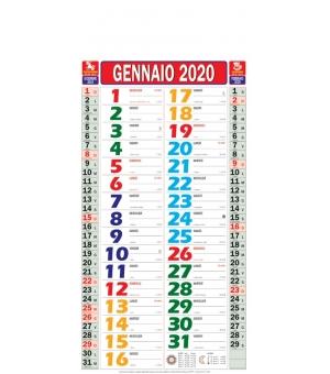 Calendari olandesi mignon Multicolor cm 22,5x47