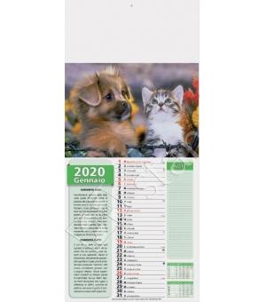 Calendari mignon illustrati Cani e Gatti cm 22x49