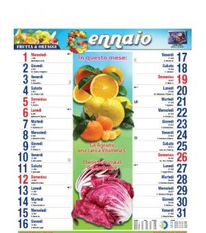 Calendari Olandesi illustrati Frutta e Verdura cm 28,8x47