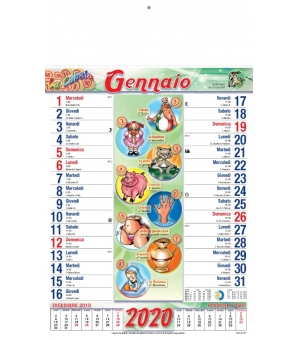 Calendari Cabala cm 28,8x47