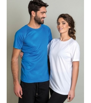 T-shirt adulto colorata unisex Sport 140 gr
