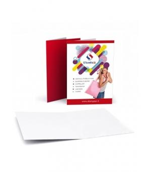 Cartelline portadocumenti a 2 ante formato A5 stampa e verniciatura lucida solo fronte