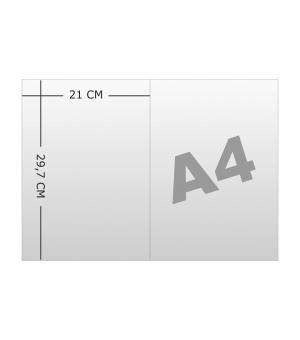 Cartelline portadocumenti a 2 ante formato A4 stampa fronte e retro e plastificazione opaca fronte e retro
