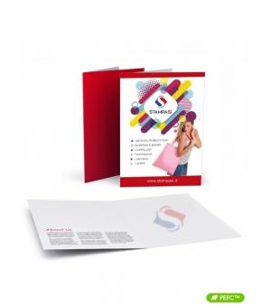 Cartelline portadocumenti a 2 ante formato A4 stampa fronte e retro e verniciatura lucida fronte e retro