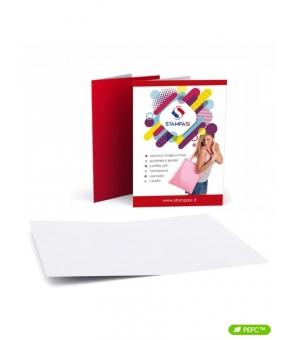 Cartelline portadocumenti a 2 ante formato A4 stampa solo fronte e plastificazione opaca solo fronte