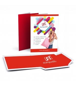 Cartelline portadocumenti con lembi formato A5 stampa e plastificazione opaca fronte e retro