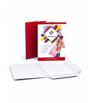 Cartelline portadocumenti con lembi formato A5 stampa e verniciatura lucida solo fronte