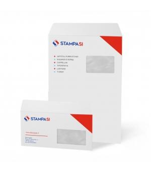 Buste intestate formato 22,9x32,4 cm con finestra e chiusura adesiva