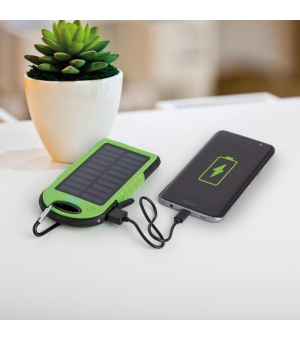 Powerbank 4000 mAh a ricarica solare in plastica e gomma