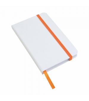 Taccuini bianchi con elastico colorato cm 9x14 con 80 fogli a righe