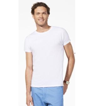 Maglietta uomo manica corta Regent Fit SOL'S 150 gr slim bianca