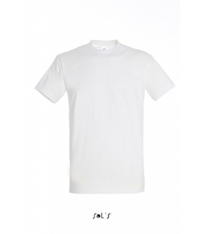 Maglietta uomo manica corta Imperial SOL'S 190 gr. girocollo - bianca