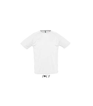 Maglietta uomo manica corta Sporty SOL'S 140 gr - Bianca