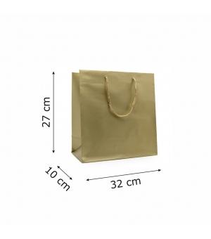 Buste Platin in carta patinata stampa perlata lusso - 42x13x37+6 cm - maniglia in corda