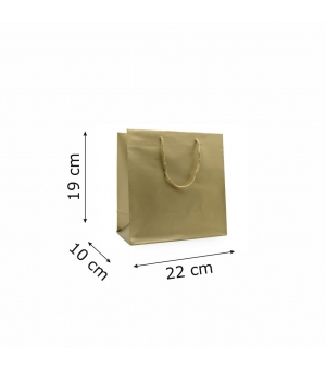 Buste Platin in carta patinata stampa perlata lusso - 22x10x19+5 cm - maniglia in corda