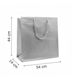 Buste Matt in carta plastificata opaca lusso colorata 160 gr - 54x14x44+6 cm - maniglia in corda