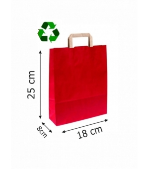 Buste Avana Riciclate carta sailing 100 gr - 18x8x25 cm - maniglia piatta