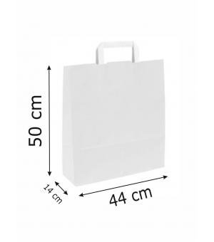Buste White Bags bianche carta kraft 110 gr - 44x14x50 cm - maniglia piatta