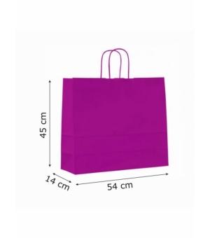 Buste colorate Summer carta kraft 120 gr - 54x14x45 cm - maniglia in corda di carta ritorta