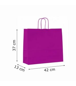 Buste colorate Summer carta kraft 110 gr - 42x13x37 cm - maniglia in corda di carta ritorta