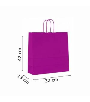Buste colorate Summer carta kraft 100 gr - 32x13x42 cm - maniglia in corda di carta ritorta