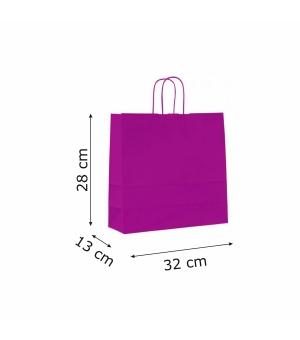 Buste colorate Summer carta kraft 100 gr - 32x13x28 cm - maniglia in corda di carta ritorta