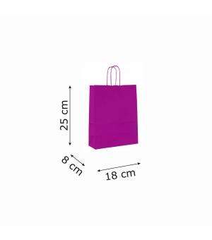 Buste colorate Summer carta kraft 100 gr - 25x11x24 cm - maniglia in corda di carta ritorta