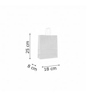 Buste bicolore bianche carta sailing 120 gr - 18x8x25+5 cm - maniglia in corda di carta ritorta
