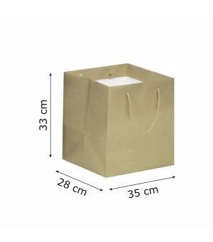 Buste Food carta 170 gr - 35x28x33+5 cm - maniglia in corda di cotone