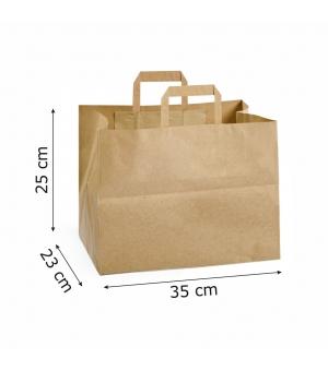 Buste Risto-Food carta 110 gr - 35x23x25 cm - maniglia piatta