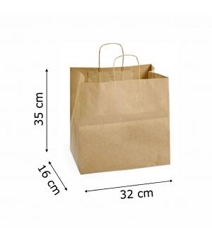 Buste Risto-Food carta 100 gr - 32x16x35 cm - maniglia ritorta