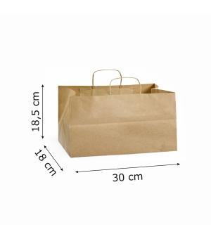 Buste Risto-Food carta 100 gr - 30x18x18,5 cm - maniglia ritorta
