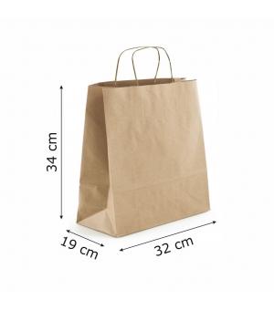 Buste Risto-Food carta 100 gr - 32x19x34 cm - maniglia ritorta
