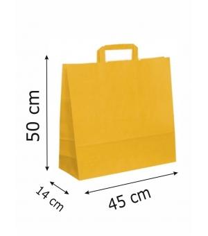 Buste di carta kraft bianca colorata - 110 gr - 44x14x50 cm - maniglia piatta