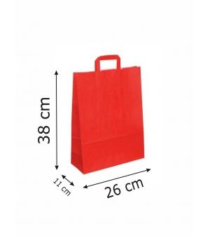 Buste di carta kraft bianca colorata - 100 gr - 26x11x38 cm - maniglia piatta