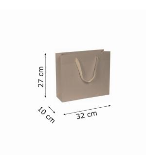 Buste di carta kraft bianca colorata - 170 gr - 32x10x27+5 cm -  maniglia fettuccia