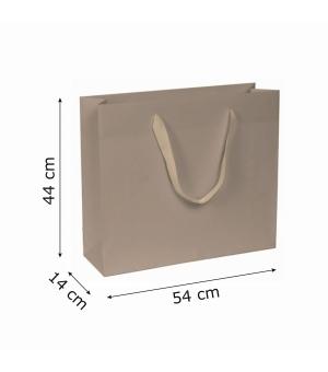 Buste di carta kraft bianca colorata - 170 gr - 54x14x44+6 cm -  maniglia fettuccia
